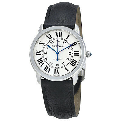 Cartier Ronde Solo Silver Opaline Dial Automatic Ladies Watch WSRN0021