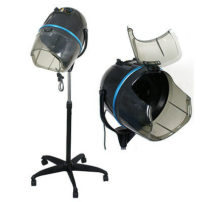 Stand Up Bonnet Hair Dryer w/ Timer Swivel Hood Caster Salon Professional