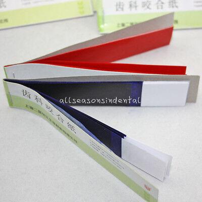 Dental Supplies Practical Articulating Soft Thin Strips Paper 20 Books Bluered