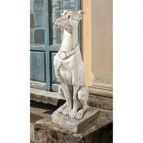 Art Deco Aristocratic Graceful Whippet Statue Sentinel Greyhound Sculpture