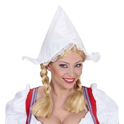 HOLLÄNDER HÄUBCHEN Magd Dienstmädchen Zimmermädchen Haube Hut Kostüm Party 0185
