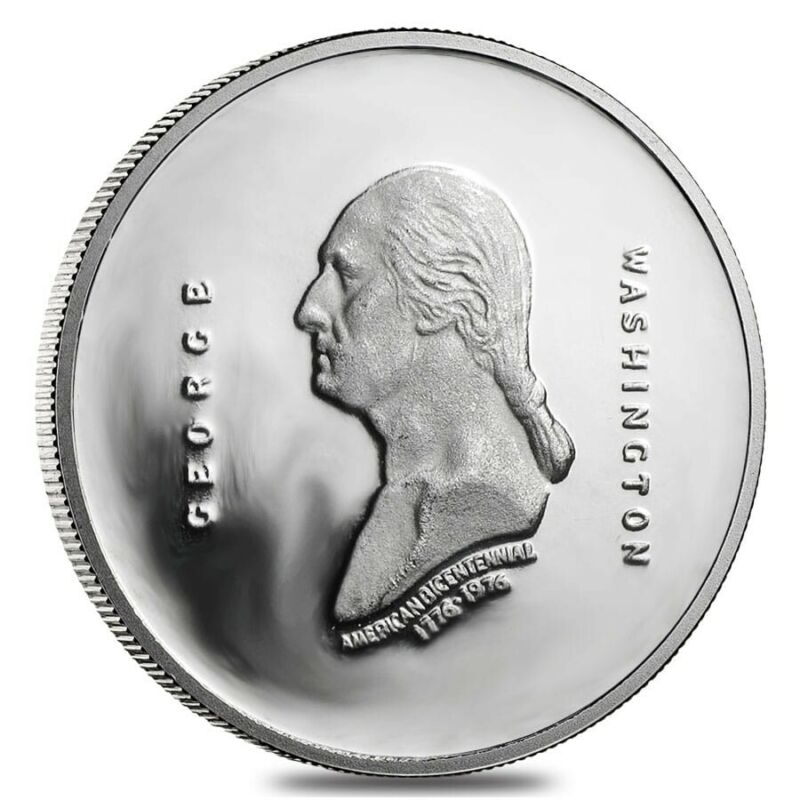 1976 1/2 oz Platinum George Washington Proof Comm. Medal