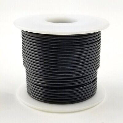 22 Awg Gauge Solid Black 300 Volt Ul1007 Pvc Hook Up Wire 100ft Roll 300v