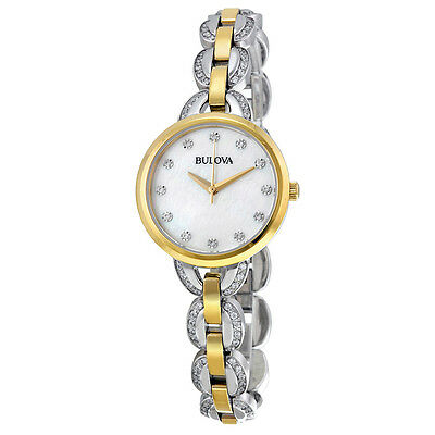 Bulova Women's 98L206 Diamond Markers Quartz Two Tone Bracelet Dress Watch