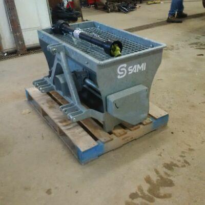 Sami St1000pto Tractor 3pt. Salt Spreader Galvanized-40 Inch