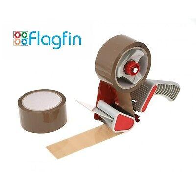 UK Heavy Duty Metal Packaging Tape Gun Parcel Sealing Hand Dispenser for 50MM