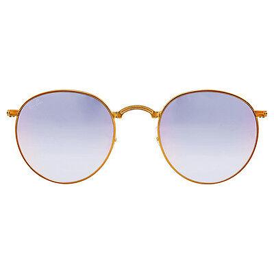 f907f9537f01 Ray Ban Folding Round Lilac Gradient Flash Sunglasses RB3532-198/7X-47
