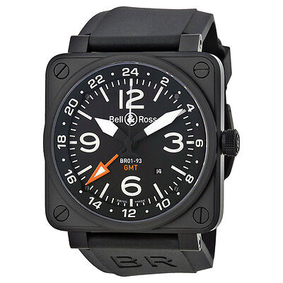 Bell and Ross Aviation GMT Black Dial Automatic 46MM Mens Watch BR-01-93-GMT