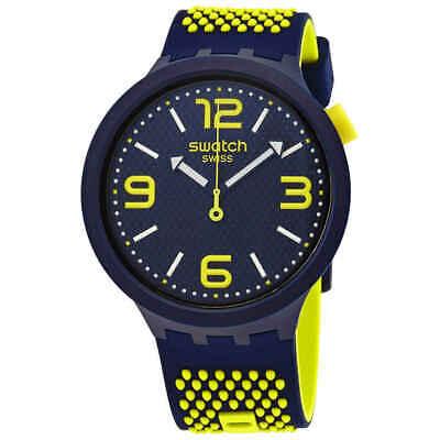 Swatch BBNEON Quartz Blue Dial Men's Watch SO27N102