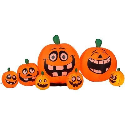 8.5 ft. Wide Pumpkin Patch Airblown Inflatable Outdoor Halloween Decoration (Outdoor Pumpkin Decorations)