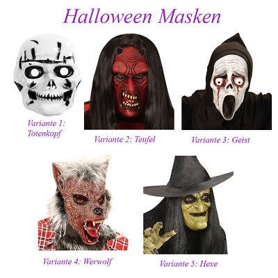 TOTENKOPF TEUFEL GEIST WERWOLF HEXE MASKE KINDER Halloween Karneval Kostüm # M11 ()