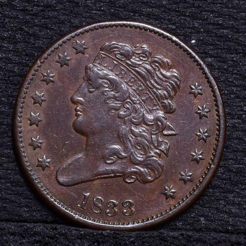 1833 Half Cent - AU (#27069)