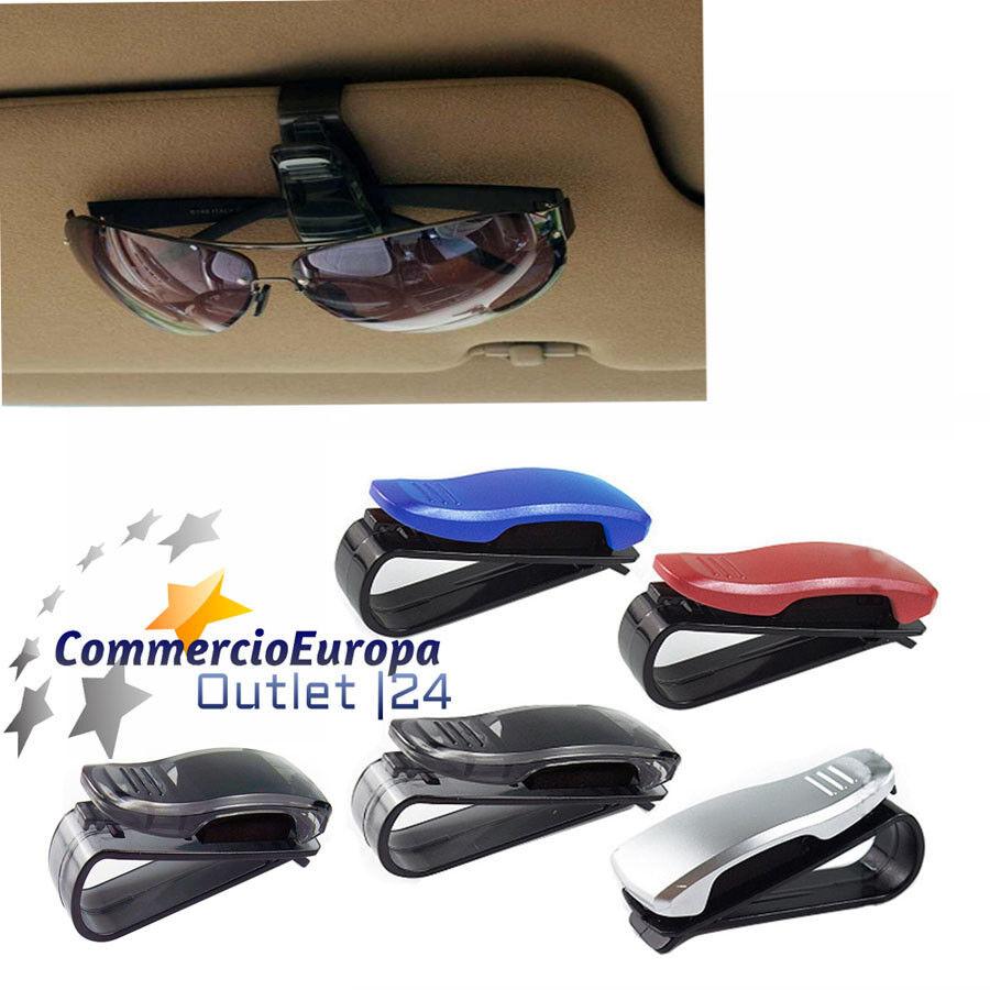clip porta occhiali da vista colorati molla parasole auto specchio retrovisore