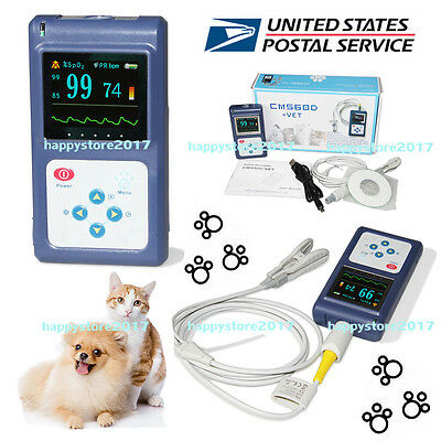 Usa Veterinary Pulse Oximeter Cms60d-vettongue Spo2 Probepc Software Animal