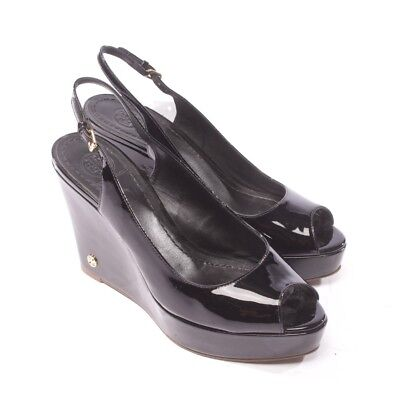 TORY BURCH Wedges Gr. D 38 Schwarz Damen Schuhe High Heels Shoes Slingbacks ()