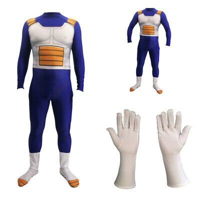 Dragon Ball Halloween Costumes (Dragon Ball Z Vegeta Jumpsuit Cosplay Costume Suit For Adult&Kids)