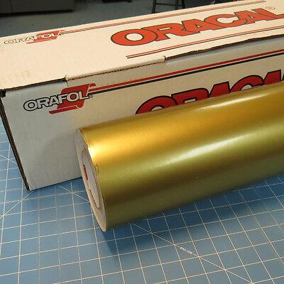 Gold Metallic Oracal 651 1 24 X 30 Roll Sign Cutting Vinyl