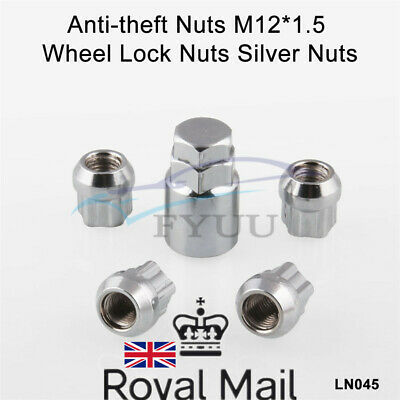 Alloy Wheel Locking Lock Nuts x4 For Nissan Cube new N1