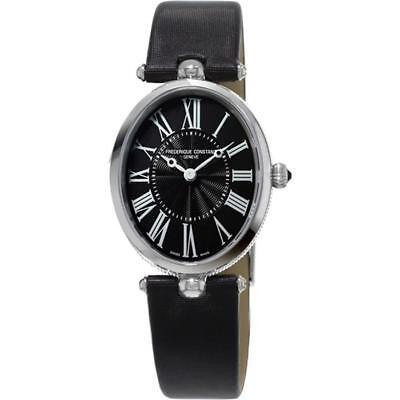 NEW Frederique Constant Art Deco Ladies FC200MPB2V6 Swiss Satin Strap Watch