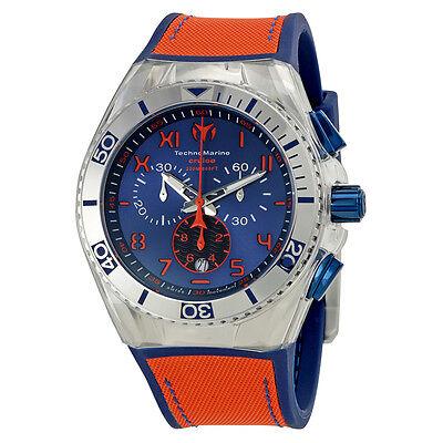 TechnoMarine Cruise California Chronograph Blue Dial Mens Watch 115012