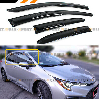 FOR 2020 TOYOTA COROLLA 4DR SEDAN JDM 3D WAVY WINDOW VISOR RAIN GUARD DEFLECTOR