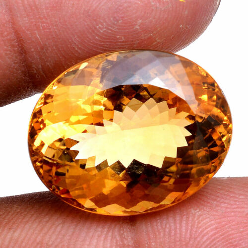 VVS 34.00 Cts Natural Citrine Golden Yellow Oval Cut AAA Quality Huge Gemstone