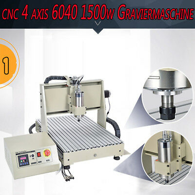 1.5kw Four 4axis Usb Cnc Router 6040 Engraver Machine Drill Mill Woodworking 3d