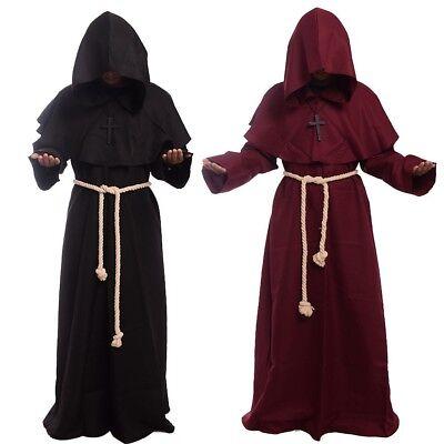 Mönch Kapuzen Roben Umhang Cape Mönch mittelalterlichen Priester Kostüm (Kostüme Roben)