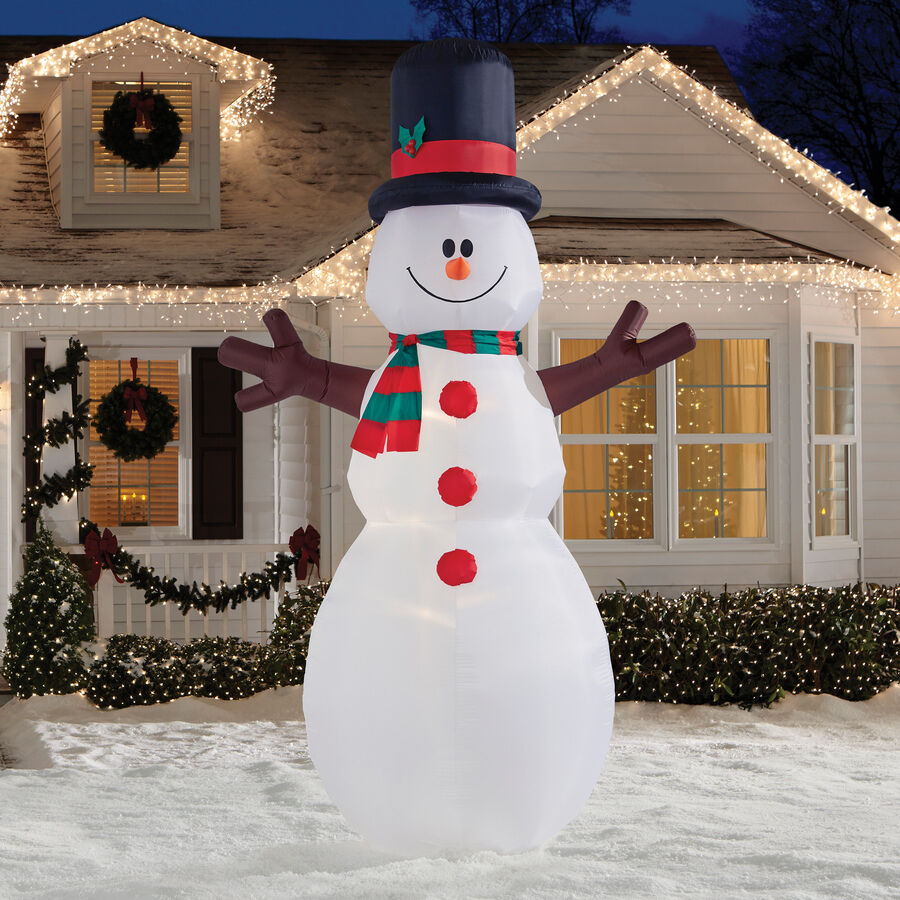 12' Colossal Snowman Christmas Gemmy Airblown Inflatable Lighted Yard Decor