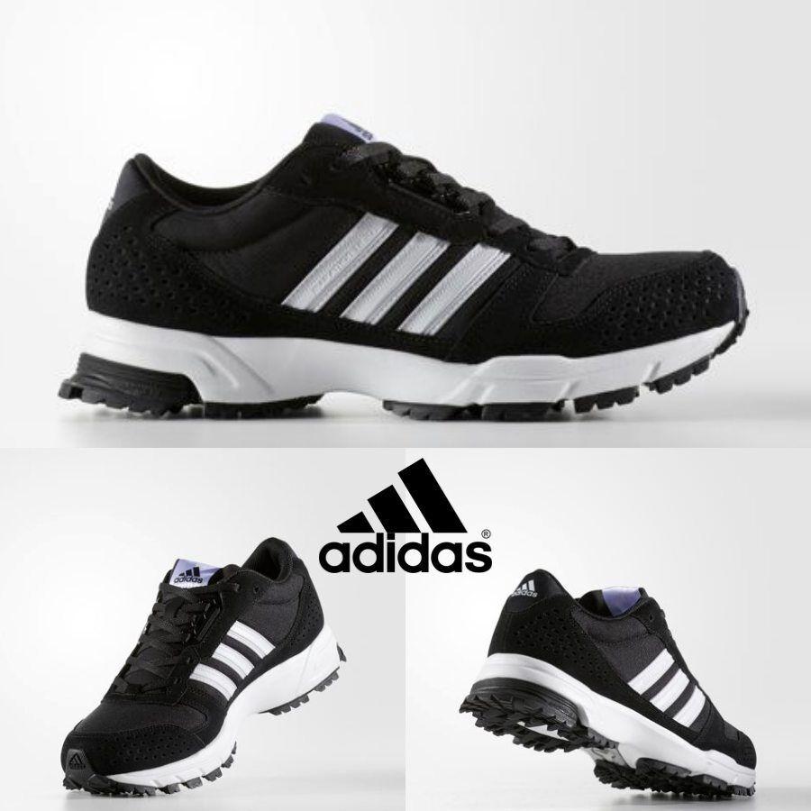 Detalles de Adidas Original Maratón 10 Tr Running Zapatos Tenis Negro BW1290 Talla 4 11 ver título original