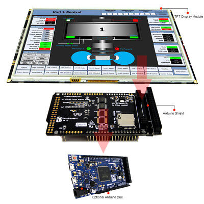 10.1 Inch 1024x600 Tft Lcd Display Shield For Arduino Due With Library Examples
