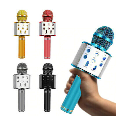NEW! WS-858 Wireless Handheld KTV Karaoke Microphone HiFi Speaker