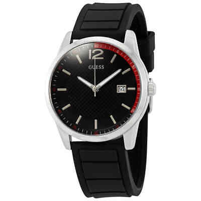 Guess Perry Black Dial Black Silicone Men's Watch W0991G1