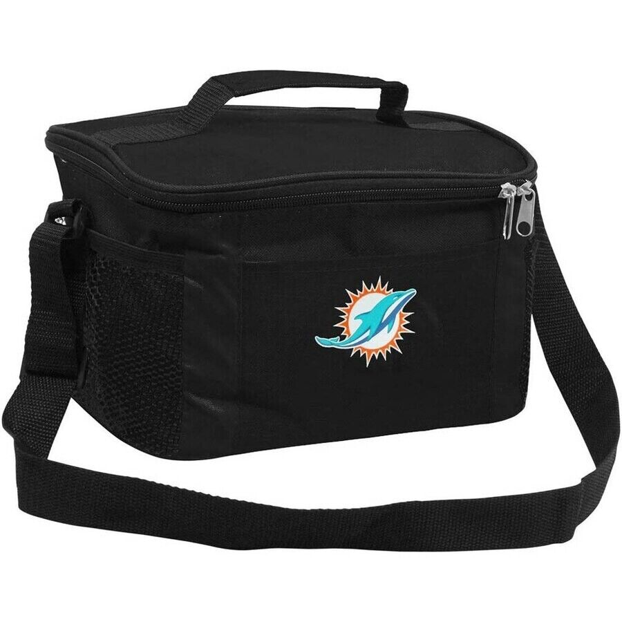 MIAMI DOLPHINS NFL 6 PACK BEVERAGE / LUNCH COOLER BAG FREE S
