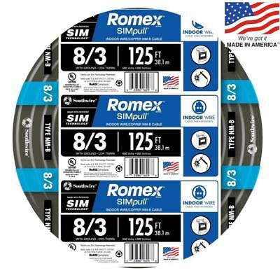 Southwire 63949202 Romex Simpull 125-ft 83 Non-metallic Wire By-the-roll New