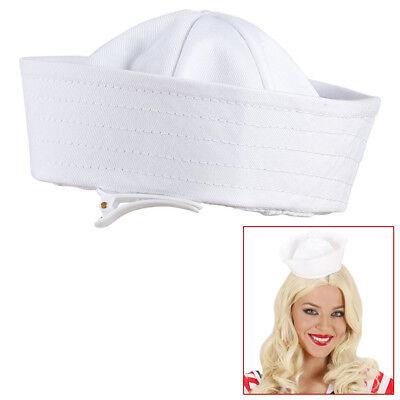 MINIHUT SEEMANN Mini Hut Mütze Käppi Schiffchen Matrose Marine Kostüm Party (Matrose Hut)