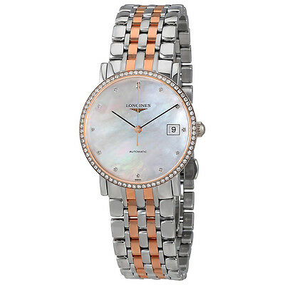 Longines Elegant Mother Of Pearl Dial Ladies Two Tone Watch L48095887