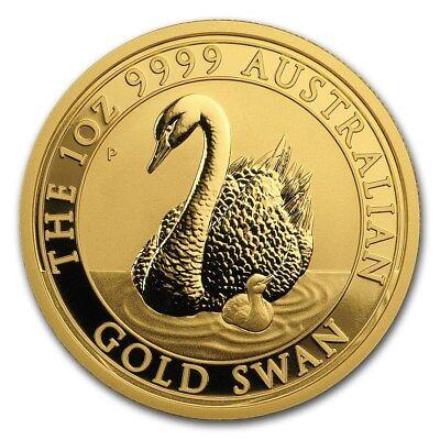 SPECIAL PRICE! 2018 Australia 1 oz Gold Swan BU - SKU #168553