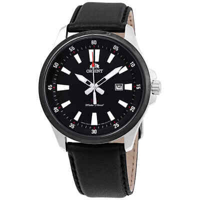 Orient Sport Black Dial Black Leather Men's Watch FUNE1002B