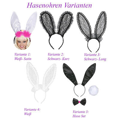 HASEN OHREN SCHWANZ Karneval Ostern JGA Party Tier Kostüm Haarreif Bunny  # H18
