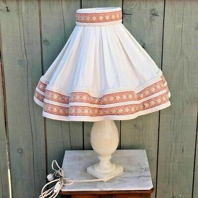 Antique Lamp Alabaster, Art Deco Vintage
