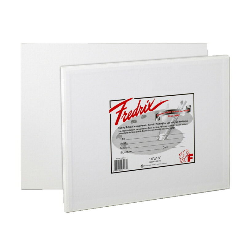 Fredrix Warp Resistant Canvas Panels, 14 x 18 Inches, Pack of 3
