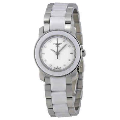 Tissot T-Trend Cera White Ceramic Diamond Ladies Watch T0642102201600
