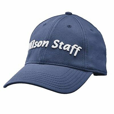 2f4699994b7 New Wilson Staff Relaxed Fit Golf Hat Adjustable Navy White