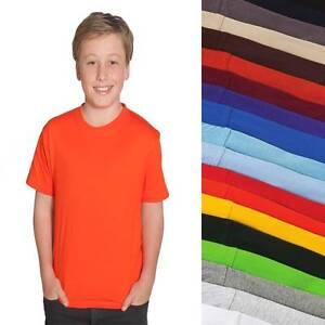 Kids-100-Cotton-Tee-Shirt-T-Shirt-Boys-Girls-Children-Child-Size-2-14-Top-1KT