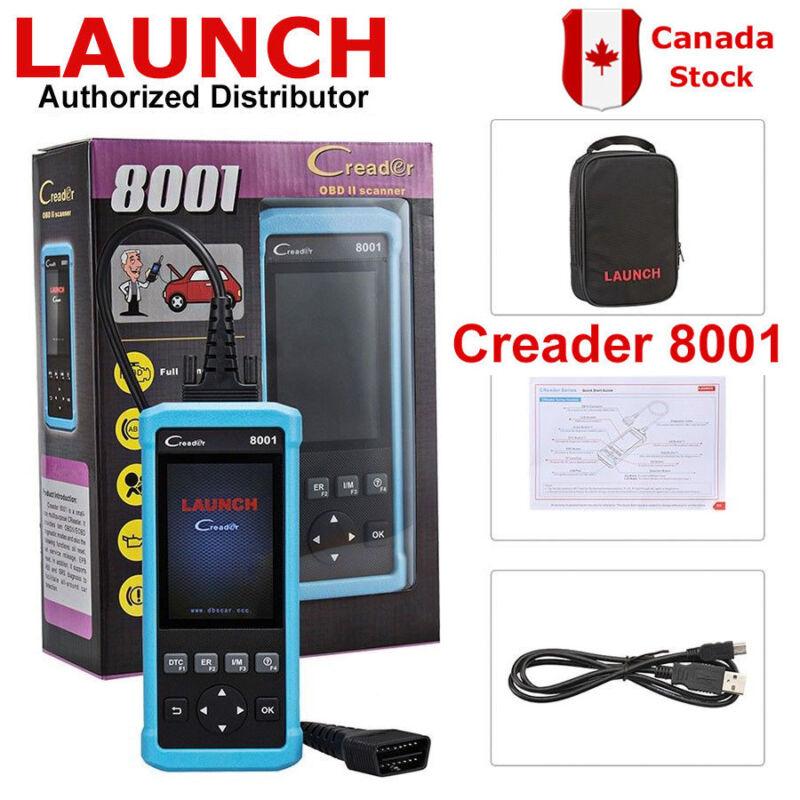 Original Launch Creader Cr8001 Obd2 Eobd Epb Abs Srs Oil Reset Diagnostic Tool