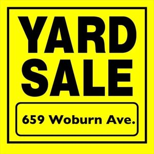 Yard Sale (Avenue & Lawrence) Sunday 26th 9:00am-1:00pm