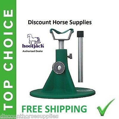 NEW GREEN HOOFJACK Horse Size farrier stand Hoof Jack includes DVD (Horse Hoof Stand)