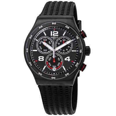 Swatch Destination Shanghai Chronograph Black Dial Men's Watch YVB404