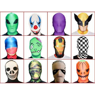 MORPHMASK PARTY MASKEN Halloween Karneval Strumpfmaske Vollmasken Morphsuits